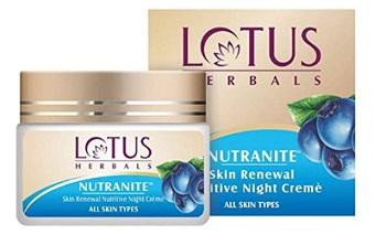 Lotus Herbal Nutranite Skin Renewal Nutritive Night Cream