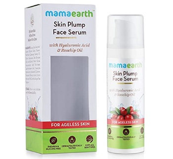 Mamaearth Skin Plump Face Serum Anti Aging Cream For Glowing Skin