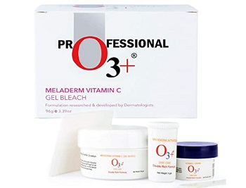 O3+ Meladerm Vitamin C Gel Bleach for Skin Whitening and Hair Lightening