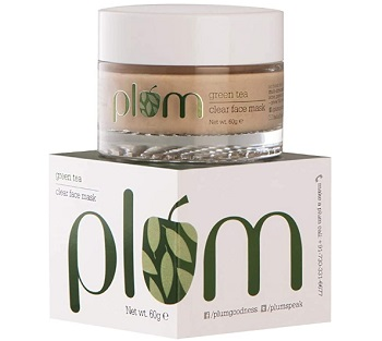 Plum Green Tea Clear Face Mask