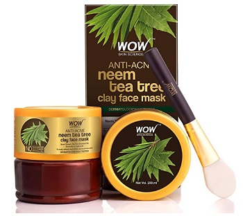 WOW Anti-Acne Neem & Tea Tree Clay Face Mask