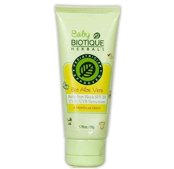 Biotique Aloe Vera Baby Sun Block SPF 20 Sunscreen