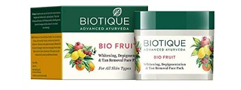 Biotique Bio Fruit Whitening and Depigmentation & Tan Removal Face Pack