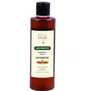 Khadi Mauri Herbal Amla Heena Tulsi Shampoo