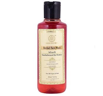 Khadi Natural Ayurvedic Sandalwood and Honey Face Wash