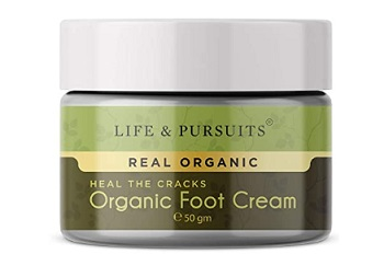 Life & Pursuits Organic Foot Crack Cream For Dry Cracked Heels & Feet