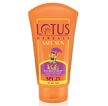 Lotus Herbals Safe Sun Kids Sun Block Cream SPF 25