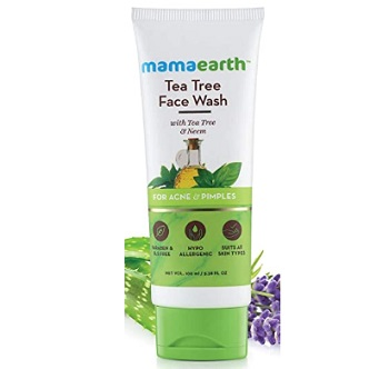 Mamaearth Tea Tree Natural Face Wash for Acne & Pimples Wash