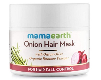 Mamaearth's Onion Hair Mask for Hair Fall Control
