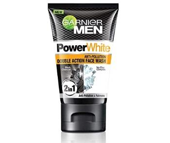 Garnier Men Power White Anti-Pollution Double Action Face Wash