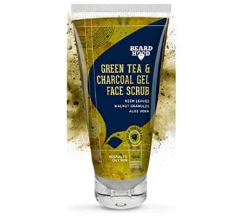 Beardhood Green Tea & Charcoal Gel Face Scrub