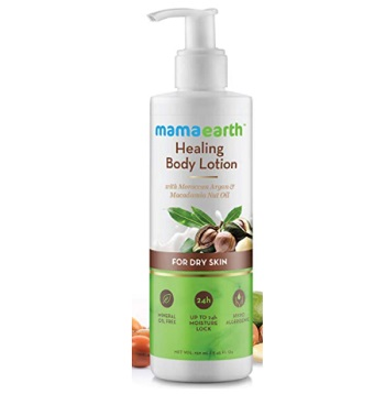 Mamaearth Healing Natural Argan Oil & Macadamia Body Lotion
