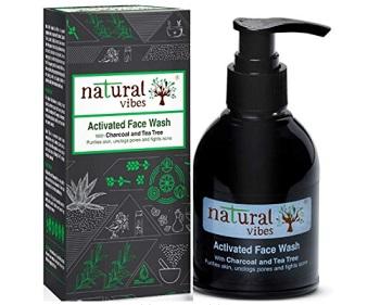 Natural Vibes Ayurvedic Activated Charcoal & Tea Tree Face Wash