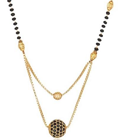 Ball Chain Inspired Mangalsutra Locket Design
