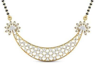 Beautiful intricate gold and diamond mangalsutra design