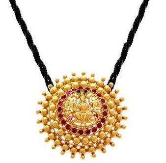 Circular South Indian Small Mangalsutra Locket