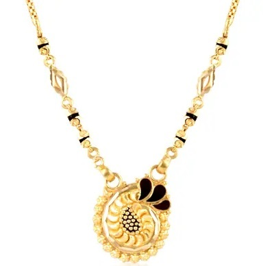 Gold Unique pendant with circular pattern