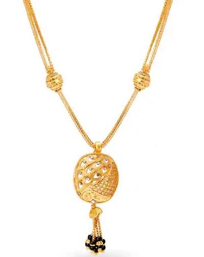 Lightweight Gold mangalsutra locket design