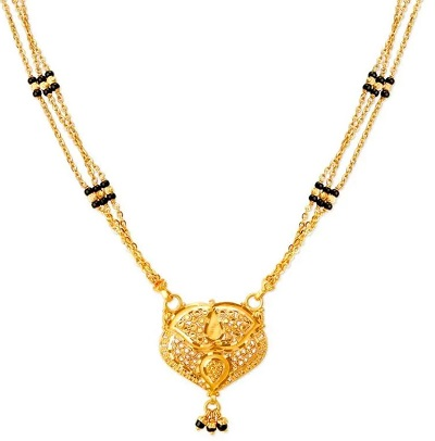 Mangalsutra locket with traditional design