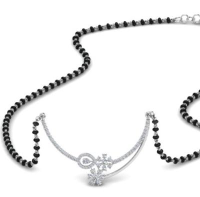 Stylish Diamond mangalsutra locket pendant