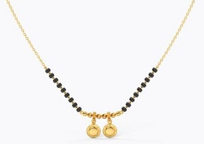 Traditional and simple mangalsutra locket design