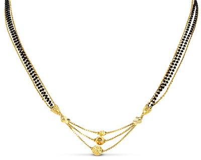 Triple chain mangalsutra Centre locket idea