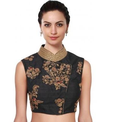 Chinese Satin angrakha style blouse