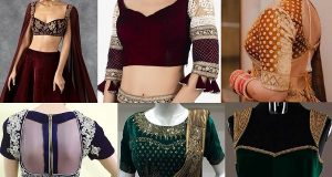 Velvet blouse designs